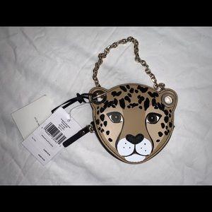 Authentic Kate spade leopard coin key case pouch